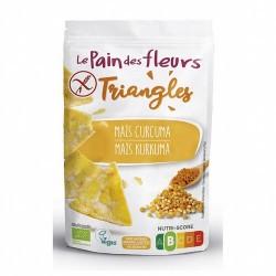 Ingredientes: Maíz* (66,5%), harina de arroz*, cúrcuma en polvo* (1,2%), sal marina. De agricultura biológica* Alérgenos: Lech