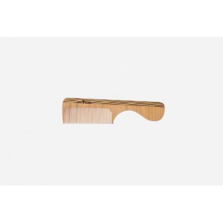 Mango peine, madera, colorido, fino, 16 cm. Fitness: cabello corto y liso. Largo: 16 cm.