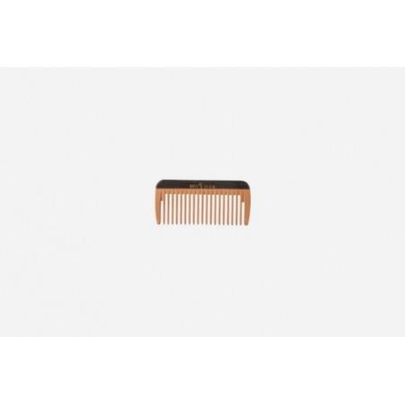 Mini peine de bolsillo, madera, colorido, mediano, 8 cm. Idoneidad: cabello medio largo, liso u ondulado. Largo: 8 cm.