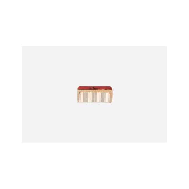 Mini peine de bolsillo, madera, colorido, fino, 8 cm. Fitness: cabello corto y liso. Largo: 8 cm.