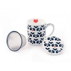 "Herb Tea Mug ""Panda"" porcelain"