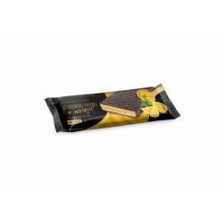 Por barrita: Cobertura de chocolate negro con edulcorante (52.60%) (pasta y manteca de cacao, edulcorante: maltitol y aspartam