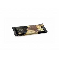 Por barrita: Cobertura de chocolate con leche con edulcorante (45.00%) (edulcorante: maltitol, manteca de cacao, leche en polv