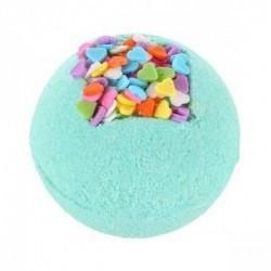 Disfruta de un baño agradable con la bomba Loving Bath de Treets Bubble.  Modo de empleo: dejar caer la bomba suavemente en e