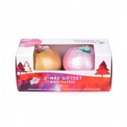 Dos bombas de baño brillantes con una fragancia suave a canela.  Regala esta caja de Navidad o simplemente disfrutala tu mism