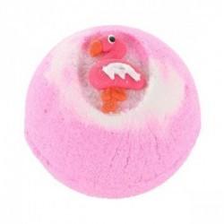 Disfruta de un baño divertido con la bomba rosa Flamingo de Treets Bubble.  Modo de empleo: dejar caer la bomba suavemente en