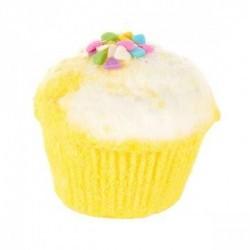Disfruta de un baño delicioso con el muffin efervescente Yeah Yellow de Treets Bubble.  Modo de empleo: dejar caer la bomba s