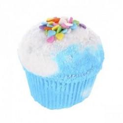 Disfruta de un baño delicioso con el muffin efervescente Badass Blue de Treets Bubble.  Modo de empleo: dejar caer la bomba s