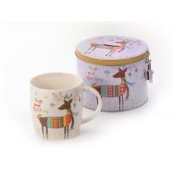 "Mug ""Rufus"" New Bone China with tin box"