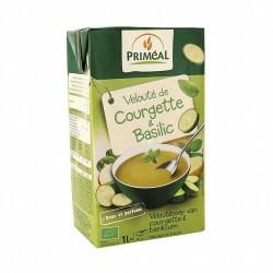PRIMEAL  Deliciosa crema a base de calabacín, con el característico sabor de la albahaca, sin aromas añadidas, lista para cal