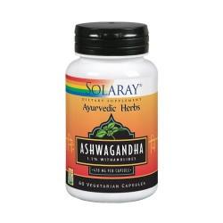 Ashwagandha-60 VegCaps. Apto Para Veganos. Sin Gluten. REF.39902 CONTENIDO MEDIO (POR DOS VEGCAPS) Ashwagandha (Withania som
