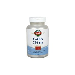 GABA 750 Mg- 90 Comprimidos. Sin Gluten. Apto Para Veganos REF.12108 CONTENIDO MEDIO (POR COMPRIMIDO) GABA (ácido Gamma amin