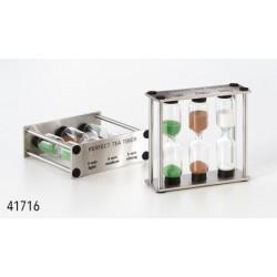 """Reloj de arena """"Perfect Tea"""" para 3 tiempos: ligero, medio y fuerte Cristal, aprox. 3 x 9 x 8 cm"""
