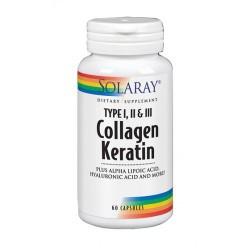 Collagen Keratin-60 Cápsulas REF.73799 CONTENIDO MEDIO (POR CÁPSULA) Queratina  250  mg  Vitamina C  127.5  mg