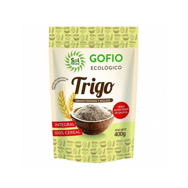 GOFIO DE TRIGO INTEGRAL BIO 400G SOL NATURAL El gofio, alimento típico de las Islas Canarias, es la harina que se obtiene del