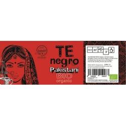 Ingredientes: Te negro, canela cassia, jengibre, clavo, pimienta negra, cardamomo, procedentes de la Agricultura Ecologica y ar