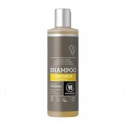 4543 Champú manzanilla cabello claro Urtekram 250 ml URTEKRAM  Champú de manzanilla para cabellos claros. Da vida al cabello