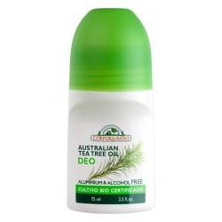 DESODORANTE ROLL-ON REFRESCANTE ACEITE DE ÁRBOL DE TÉ AUSTRALIANO El aceite de árbol de té tiene propiedades antisépticas y a