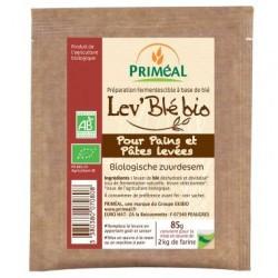 Esta masa madre se elabora exclusivamente con ingredientes de la agricultura ecológica: trigo y levadura seleccionada. Esta lev