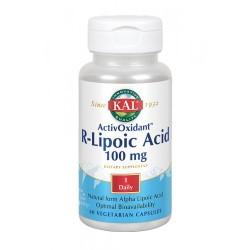 R-Lipoic Acid ActivOxidant™ -60 Vegcaps. Apto Para Veganos REF.50212 CONTENIDO MEDIO (POR VEGCAP) Ácido R-alfa lipoico