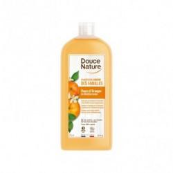 Champú gel enriquecido con flor de azahar y aceite esencial de naranja Sin sulfatos Sin jabón Probado dermatológicamente Envase