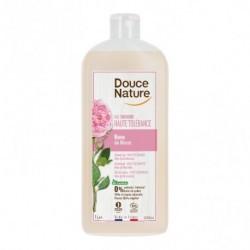 Gel de ducha de rosas Para todo tipo de pieles Con delicado perfume Sin sulfatos Sin jabón Envase 100% vegetal, reciclable, a b
