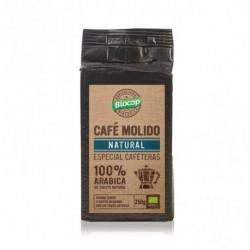 BIOCOP  Café arábica molido de tueste natural. Envasado al vacío. De aroma característico y sabor equilibrado. Ingredientes: