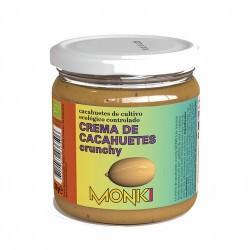 CREMA DE CACAHUETES CRUJIENTE BIO 330G MONKI Crema de cacahuetes crunchy Monki (con trocitos)  Ingredientes: cacahuetes tos