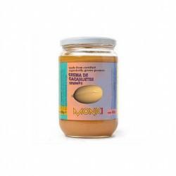 CREMA DE CACAHUETES CRUJIENTE BIO 650G MONKI Crema de cacahuetes crunchy Monki (con trocitos)  Ingredientes: cacahuetes tos
