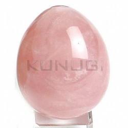 """YONI de Cuarzo Rosa.  Medida: 5 x 3,8cms.  YONI, proviene del Sanscrito, """" origen"""", son piedras semipreciosas trabajadas en"""