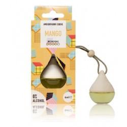 El ambientador coche Drop Mango perfuma coches, armarios y taquillas con un aroma frutal con una intensidad de 4 puntos sobre 5