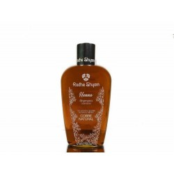 Descripción EL Shampoo Colorante a la Henna Radhe Shyam, esta recomendado para mantener la coloración por la aplicación de la