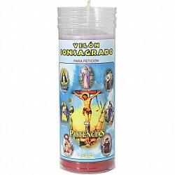 ELON Consagrado 7 Potencias con Oracion 15 x 5.5 cm (Con Tubo Protector) (Blanco Arriba)