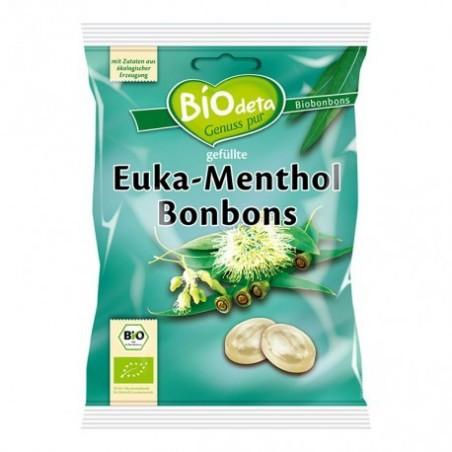 BIODETA  Caramelos rellenos con una mezcla fresca de eucalipto y mentol. Dan un aliento fresco y tienen acción balsámica. No