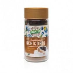 Ingredientes: Achicoria tostada*. *De agricultura biológica. Uso: Mezclar una cucharada de postre de soluble de achicoria con