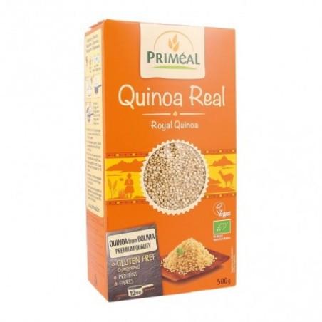Ingredientes: Quinoa Réal * (Chenopodium quinoa) *De agricultura ecológica. Uso: Enjuague y cocine 1 volumen de quinoa en 2 vo