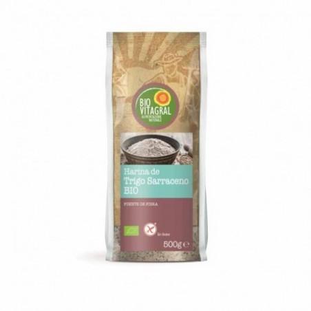 Ingredientes: 100% harina trigo sarraceno*. *De agricultura biológica Uso: Se puede utilizar para todo tipo de recetas, tanto