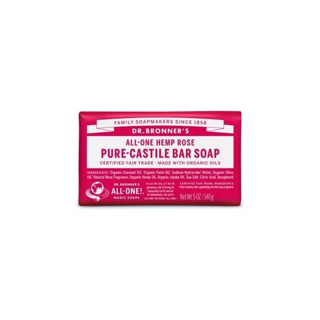 Floral y fresco, con un toque de dulzura: nuestro jabón en barra Rose Pure-Castile está elaborado con ingredientes certificados