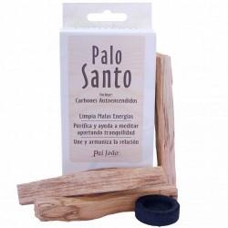 Palo Santo piezas uniformes ( 30 gr) y 10 Carbon Autoencendido - Bursera Graveolens