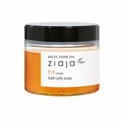 Jabón para baño en consistencia de gelatina con increíble aroma a mango.  Limpia suavemente la piel durante el baño. Crea una