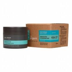 Crema facial, Manteca de Cacao & Ácido Hialurónico  Crema hidratante para el cuidado diario 97% de ingredientes de origen na