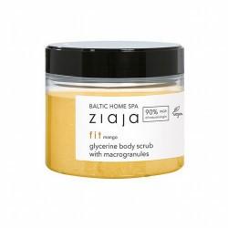 Exfoliante corporal para un agradable spa en casa con aroma a mango.  Exfolia, alisa y suaviza la piel. Lubrica suavemente y
