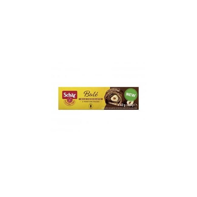 Bombón de avellana cubierto de chocolate y barquillo sin gluten Érase una vez, una pequeña y dorada avellana dorada que en el