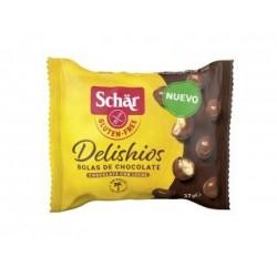 Crujientes y deliciosas bolitas de galleta cubiertas de chocolate con leche  ¿Un snack de crujiente galleta y suave chocolate