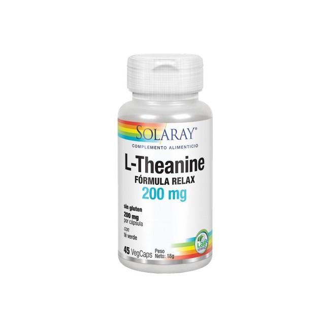 L-Theanine 200 Mg- 45 VegCaps. Sin Gluten. Apto Para Veganos REF.4992 CONTENIDO MEDIO (POR VEGCAP) L-teanina  200  mg