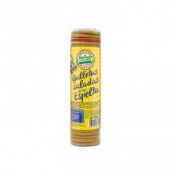 Galleta salada fina y crujiente. Elaboradas con aceite de girasol y harina de trigo espelta Ideal como snack y como aperitivo P