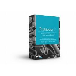 Por 1 cápsula: Probióticos 14 cepas: (Lactobacillus acidophillus 4,0x109 ufc/g, Lactobacillus brevis 2,5x109 ufc/g, Lactobacil