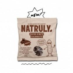 sin gluten sin azucares anadidos sin edulcorantes sin aditivos sin tonterias Cacahuete (50%) Pasta de cacao (32%) Fibra