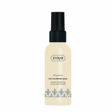Spray Acondicionador Alisador con Proteínas de Seda.  Especialmente indicado para cabellos secos, ásperos o sin brillo.  Es
