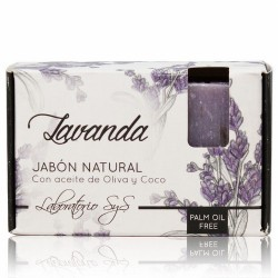 El Jabón Natural SyS PREMIUM 100g LAVANDA  está elaborado artesanalmente en frío y con ingredientes naturales.  Contienen exc